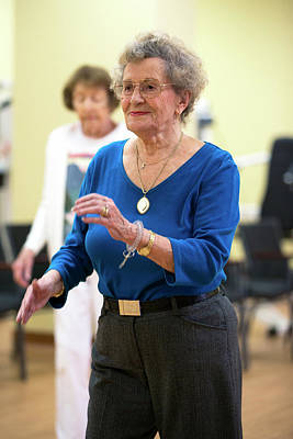 Exercise Class For Active Elderly Poster