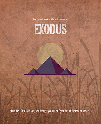 Exodus Books Of The Bible Series Old Testament Minimal Poster Art Number 2 Poster by Design Turnpike