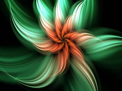Poster featuring the digital art Exotic Flower by Svetlana Nikolova