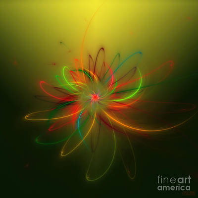 Poster featuring the digital art Exotic Lotus by Hanza Turgul