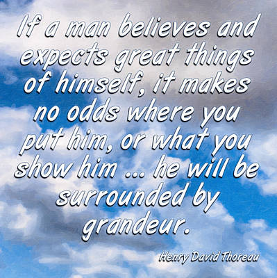 Expect Great Things - Thoreau Poster