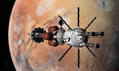 Explorer At Mars Part 1 Poster by David Robinson