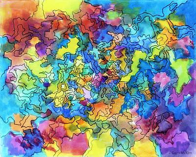Exploring Shapes 02 Poster by Jo-Anne Gazo-McKim