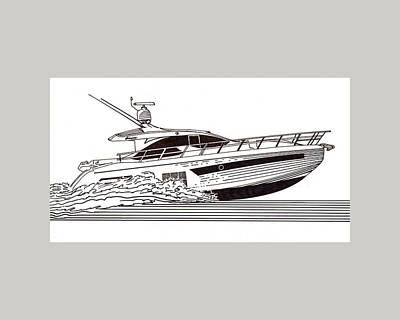 Express Sport Yacht Poster