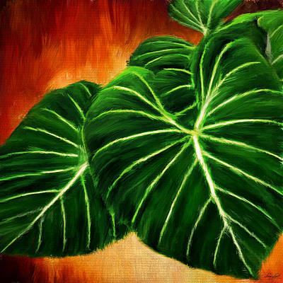 Exquisite Collection- Philodendron Gloriosum Poster by Lourry Legarde