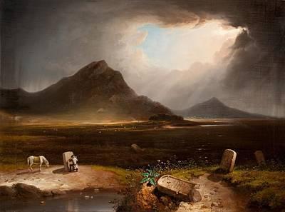 Extensive Landscape With Stonemason Poster by Daniel M. Mackenzie