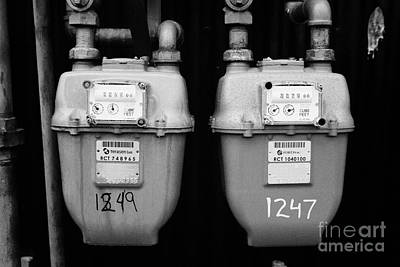 external gas meters on property Vancouver BC Canada Poster by Joe Fox