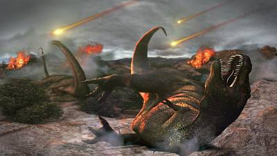 Extinction Of The Dinosaurs Poster