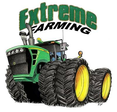 Extreme Farming Poster by Lyle Brown