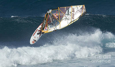 Extreme Windsurfing  Poster by Bob Christopher