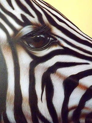 Poster featuring the painting Eye Of The Zebra by Darren Robinson