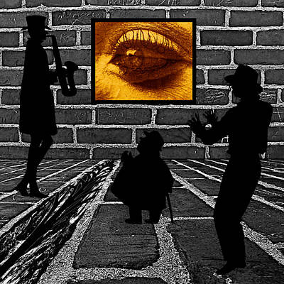 Eye On The Wall Poster by Barbara St Jean