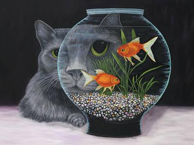 Poster featuring the painting Eye To Eye by Karen Zuk Rosenblatt