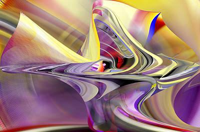 Eye Watcher - Abstract Art Poster by rd Erickson