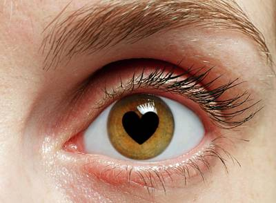 Eye With Heart Poster by Victor De Schwanberg