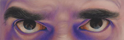Eyes In The Mirror - Pastel Poster by Ben Kotyuk