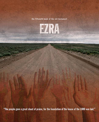 Ezra Books Of The Bible Series Old Testament Minimal Poster Art Number 15 Poster by Design Turnpike