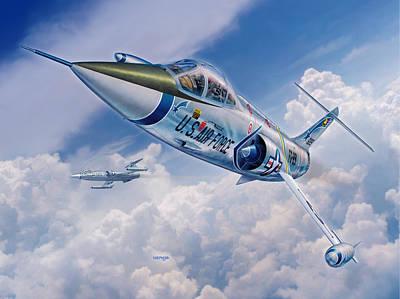 F-104c Starfighter Poster by Stu Shepherd