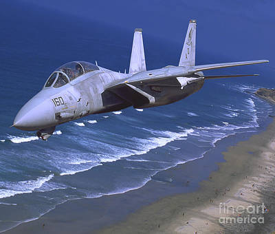 F-14 Tomcat Flying Over San Diego Poster
