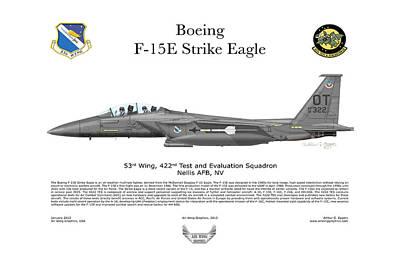 F-15e Strike Eagle 442d Tes Poster by Arthur Eggers