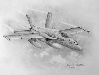 F-18 Super Hornet Poster by Jim Hubbard