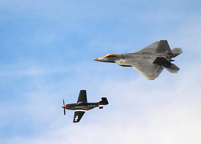 F-22 And P-51 Heritage Flight Poster