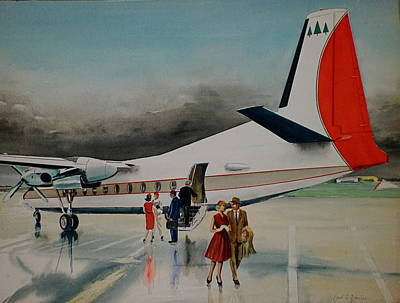 F-27 At Columbus Ohio Poster by Frank Hunter