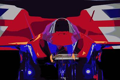 F 35 Joint Strike Fighter On Stage Enhanced II Poster by US Military - L Brown