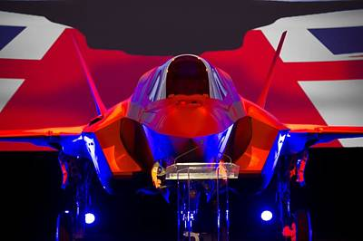F 35 Joint Strike Fighter On Stage Poster by US Military - L Brown