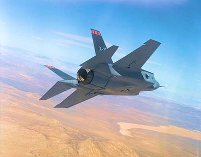 F 35 Strike Fighter Enhanced Poster by US Military - L Brown