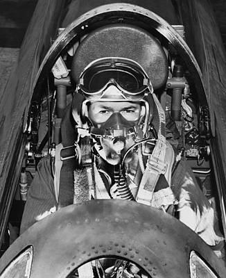 F-84 Thunderjet Pilot Poster by Underwood Archives