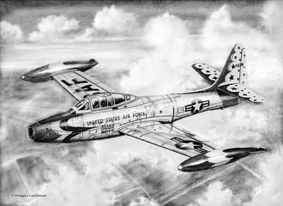 F-84g Thunderbird Poster by Douglas Castleman