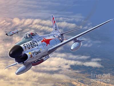 F-86d All Weather Menace Poster by Stu Shepherd