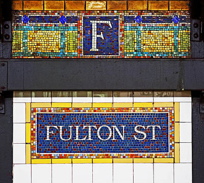 F Is For Fulton Street Poster by Rona Black