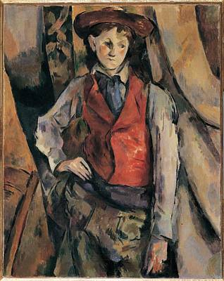 Fabbri Paolo Egisto, Man With A Red Poster by Everett