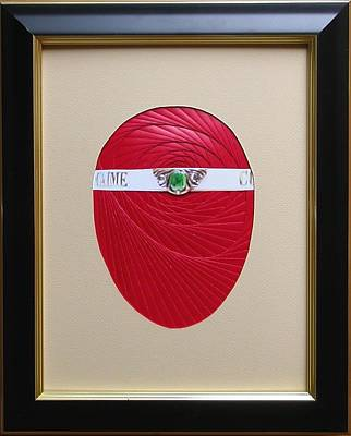 Poster featuring the mixed media Faberge Egg 1 by Ron Davidson