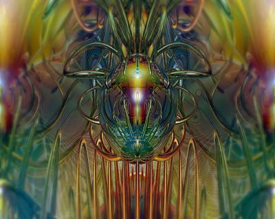 Faberge Gazing Sphere Fx  Poster by G Adam Orosco