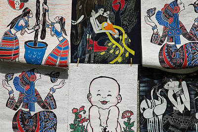 Fabric Items For Sale, Dali, Yunnan Poster by Panoramic Images