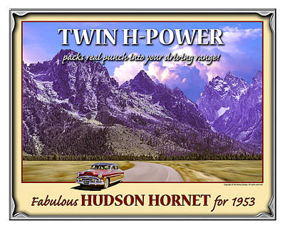 Poster featuring the photograph Fabulous Hudson Hornet For 1953 by Ed Dooley