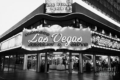 fabulous las vegas jewelry and gifts freemont street Nevada USA Poster