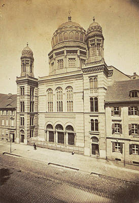 Facade And Dome Of The New Synagogue In Berlin Poster
