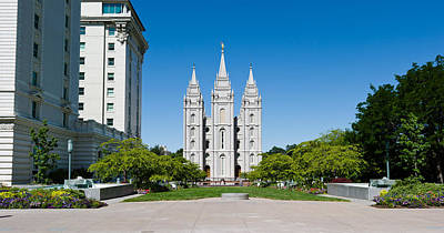 Facade Of A Church, Mormon Temple Poster by Panoramic Images