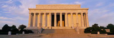 Facade Of A Memorial Building, Lincoln Poster