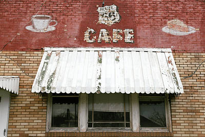Facade Of An Abandoned Cafe Poster