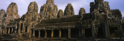 Facade Of An Old Temple, Angkor Wat Poster by Panoramic Images