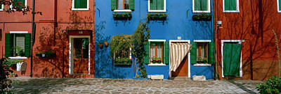 Facade Of Houses, Burano, Veneto, Italy Poster by Panoramic Images