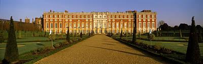 Facade Of The Palace, Hampton Court Poster