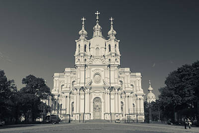 Facade Of The Smolny Cathedral, Smolny Poster by Panoramic Images
