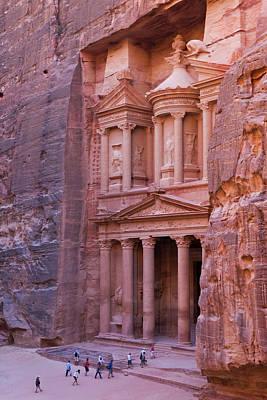 Facade Of Treasury (al Khazneh Poster
