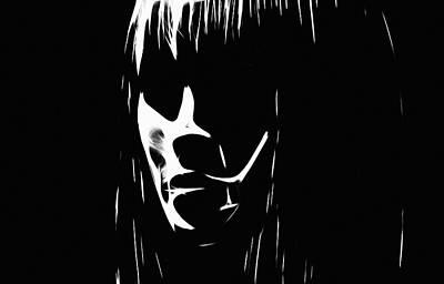 Face In The Dark Poster by Steve K